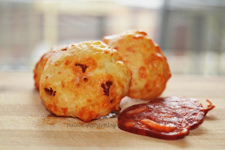 Pão de Queijo com Chouriço/Cheese Bread withChorizo